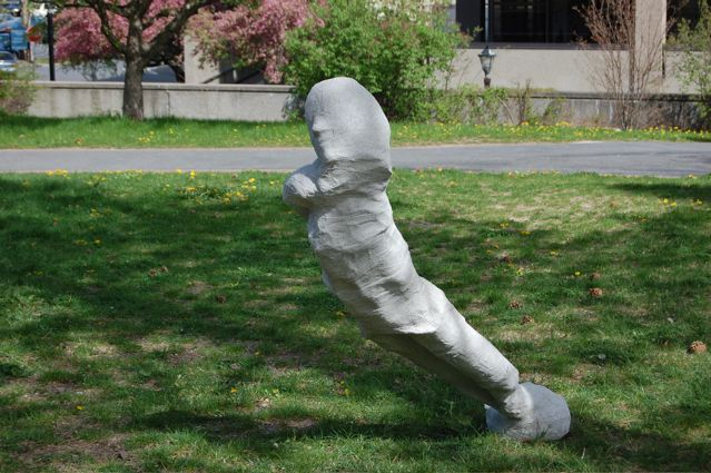 leaning sculpture
