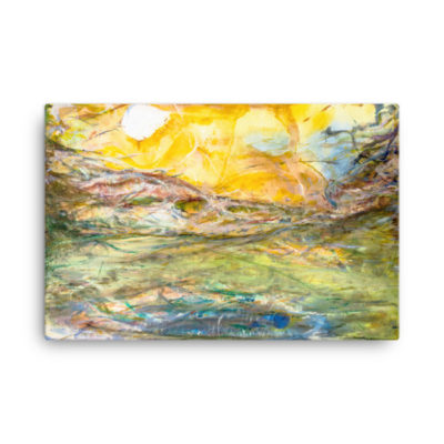 """Landscape of the psychic movement"" Canvas print"